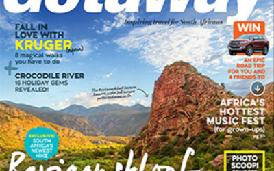 Getaway Magazine's cover story on the Leopard Trail